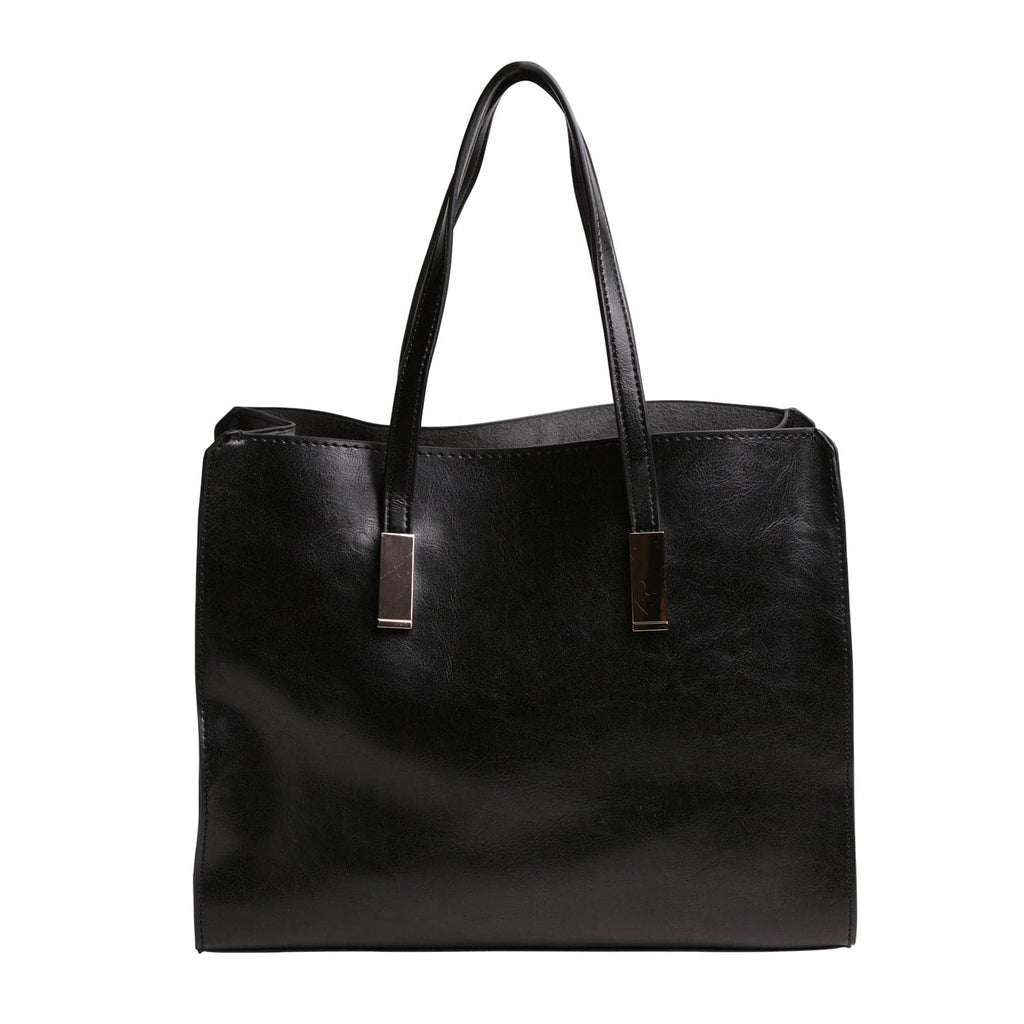 Black Boxy Purse, Handbag, purse, backpack - Kevia Style, LLC