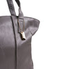 Gray Faux Leather Tote