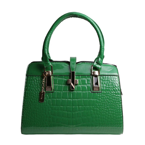 Green Vegan Crocodile Leather Purse