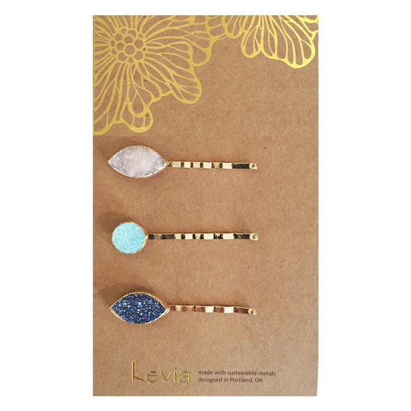 Druzy Bobby Pin Set, Hair - Kevia Style, LLC