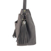 Brown Slouchy Purse with Tassels