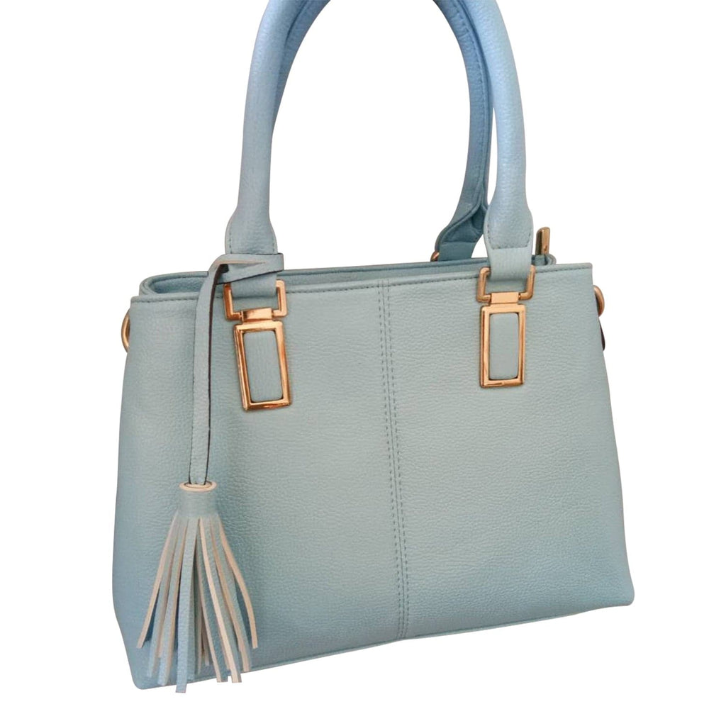 Light Blue Patent Leather Bag