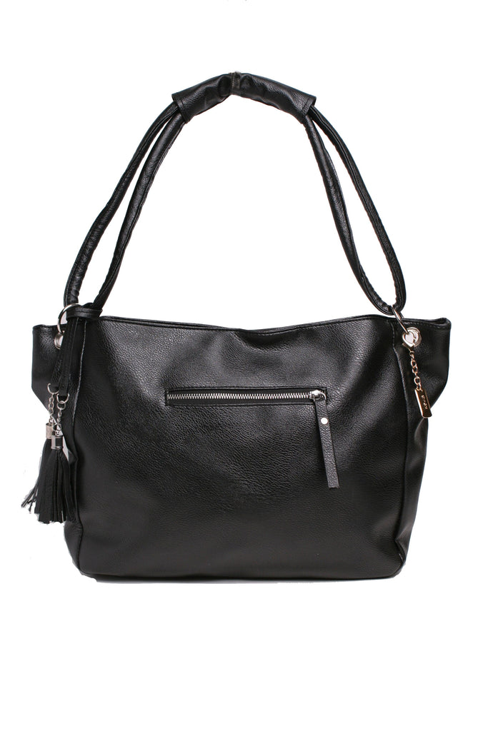 Black Slouchy Handbag, Handbag, purse, backpack - Kevia Style, LLC