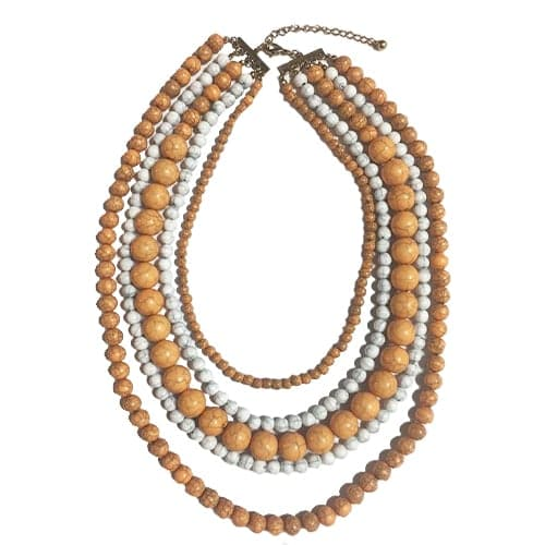Layered Beaded Necklace, Necklace - Kevia Style, LLC