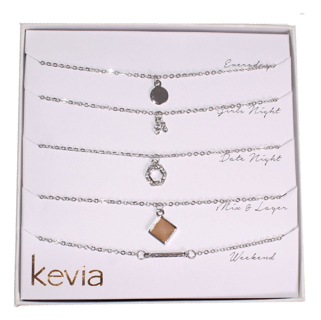 Silver Theme Necklace Set