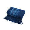 Plaid fringe scarf--Navy Blue Plaid, Scarf - Kevia Style, LLC