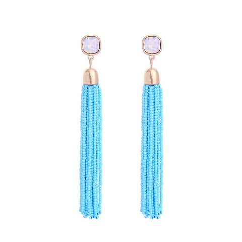 Lizzie Beaded Tassel Earring