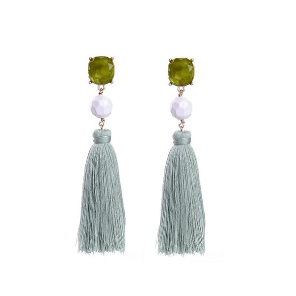 Lizzie Post Earring Tassel, Earring - Kevia Style, LLC