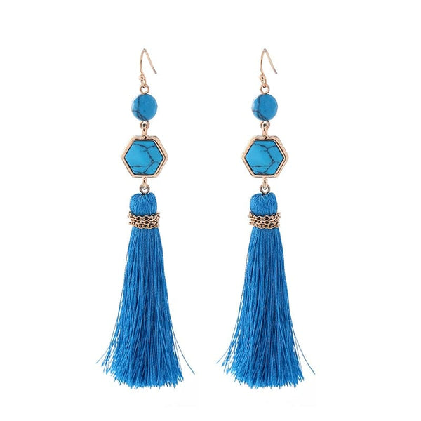 Lizzie Drop Tassel Earring