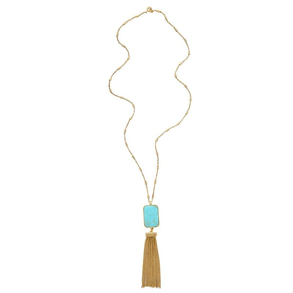 Lizzie Turquoise Necklace, Necklace - Kevia Style, LLC