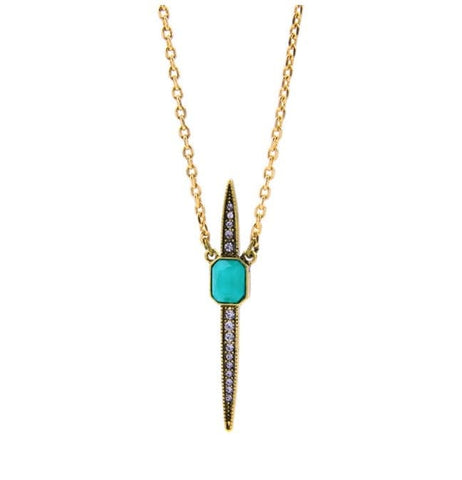 Lizzie Turquoise Dagger Necklace