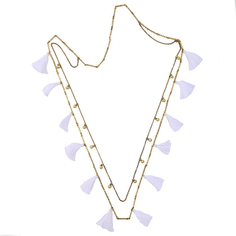 Lizze Two Layer Necklace, Necklace - Kevia Style, LLC