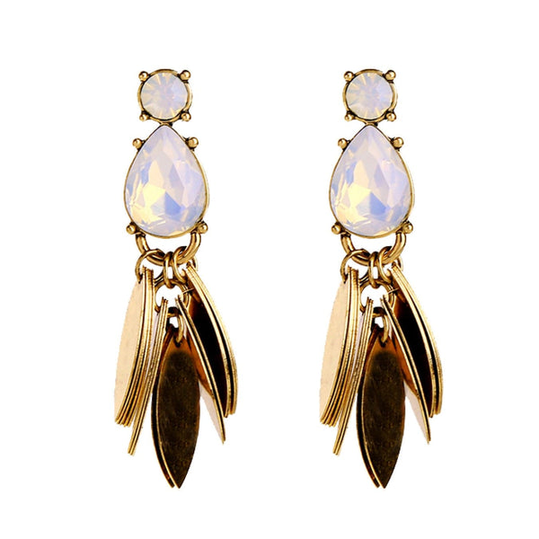 Lizzie Opal Statement Earrings, Earrings - Kevia Style, LLC