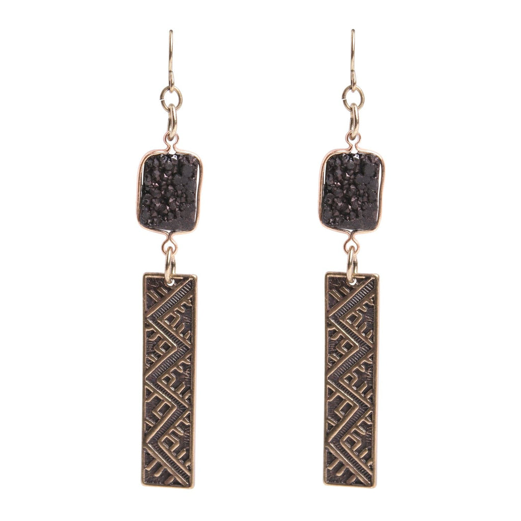 Patina Flora Earring, Earring - Kevia Style, LLC