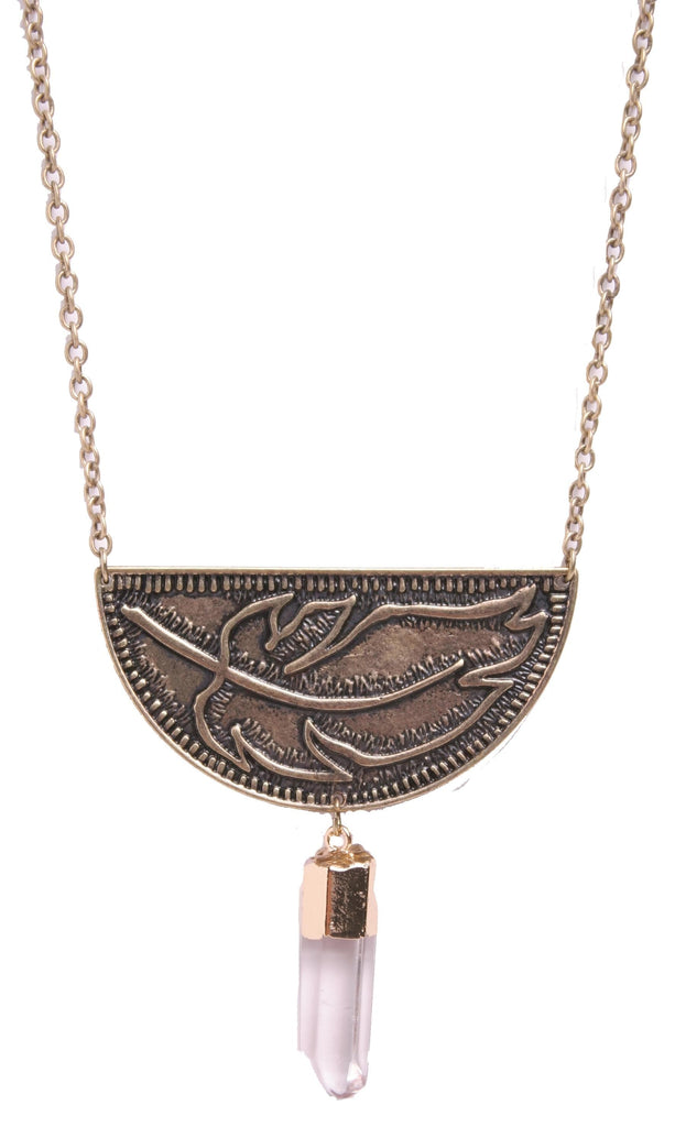 Patina Flora Leaf Necklace, Necklace - Kevia Style, LLC