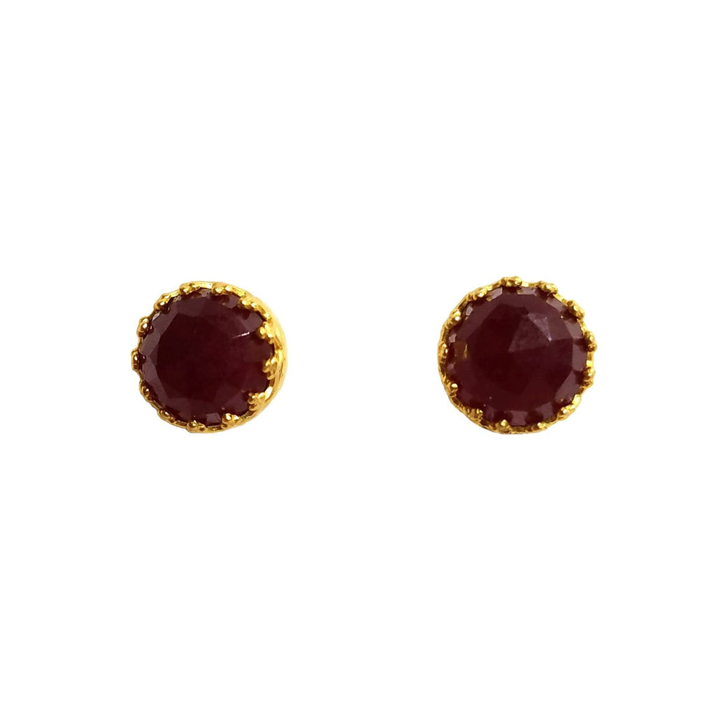 Rococo Earring - Garnet Quartz, Earrings - Kevia Style, LLC