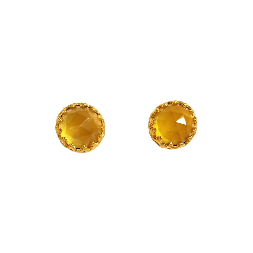 Rococo Earring - Citrine Quartz, Earrings - Kevia Style, LLC