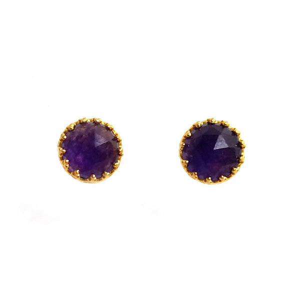 Rococo Earring - Amethyst Quartz, Earrings - Kevia Style, LLC