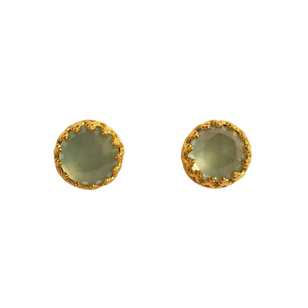 Rococo Earring - Aquamarine Quartz, Earrings - Kevia Style, LLC