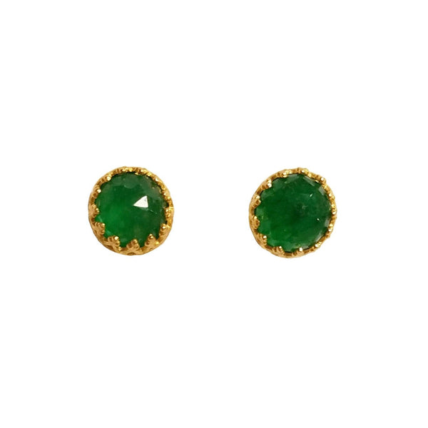 Rococo Earring - Emerald Quartz, Earrings - Kevia Style, LLC