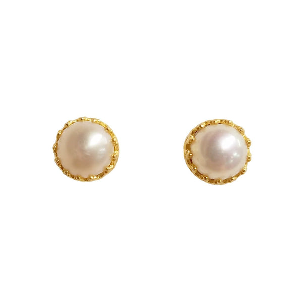 Rococo Earring - Pearl, Earrings - Kevia Style, LLC