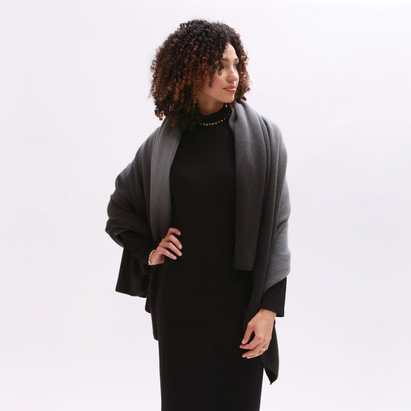 Ombre Scarf - Black