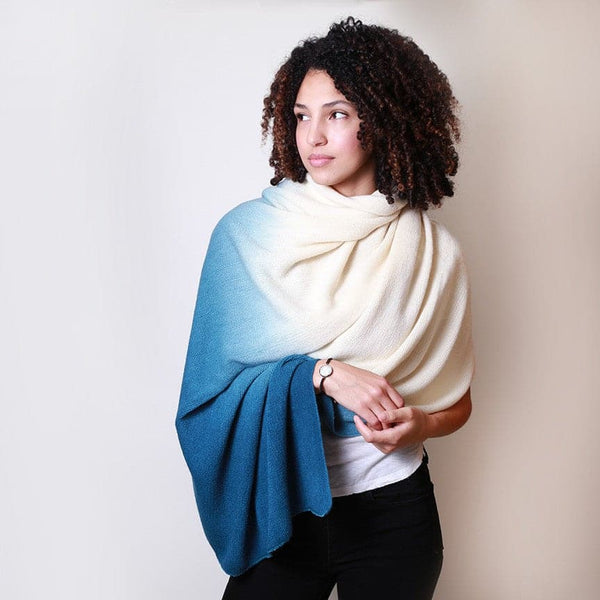 Ombre Scarf - Blue