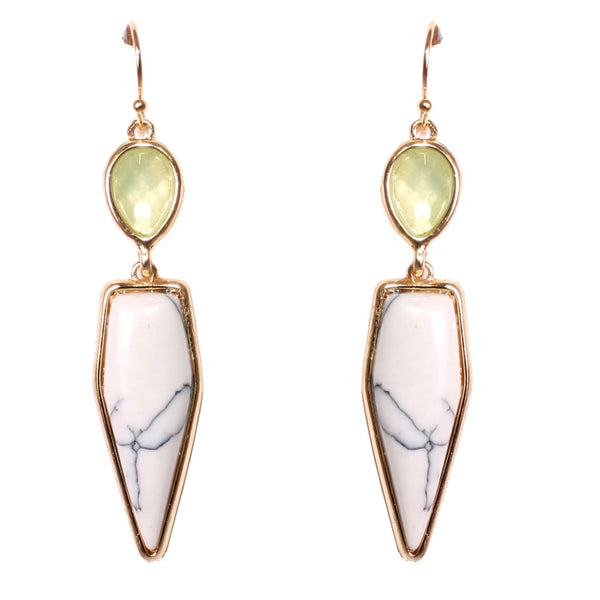 Galia Gemstone Drop Earrings, Earrings - Kevia Style, LLC