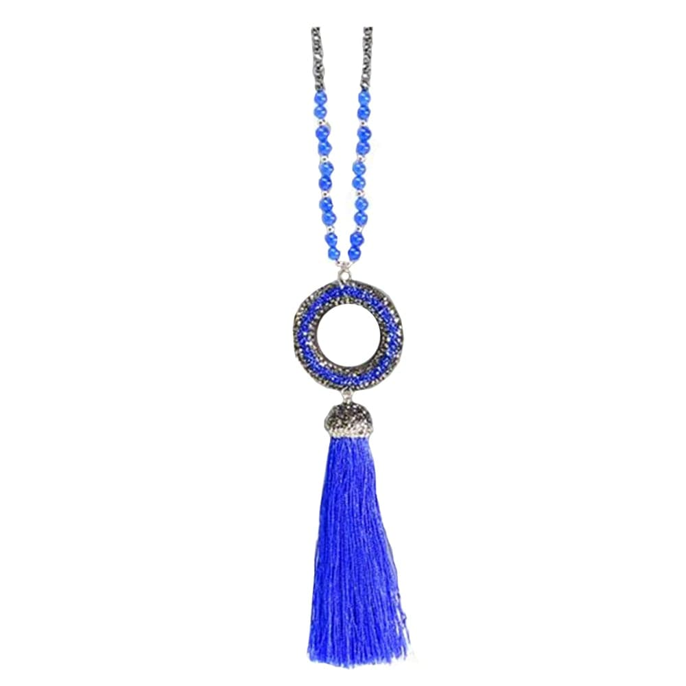 Beaded Tassel Necklace, Necklace - Kevia Style, LLC