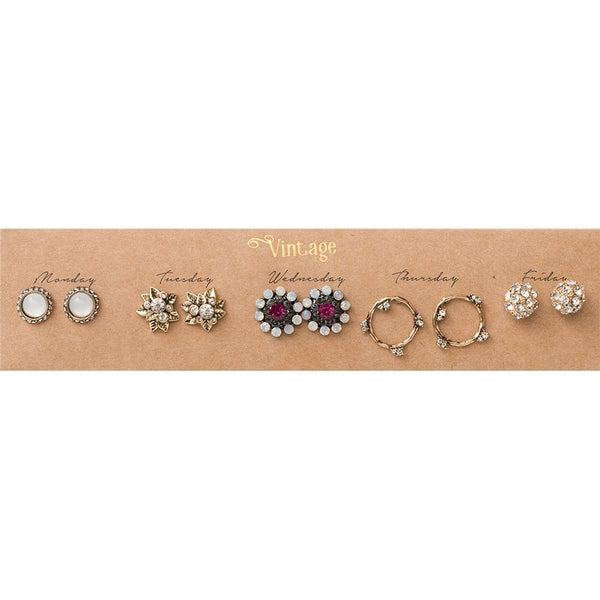 Vintage Post Earring Set, Earrings - Kevia Style, LLC