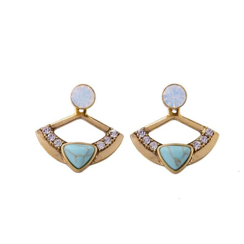 Lizzie Opal Turquoise Jacket Earrings
