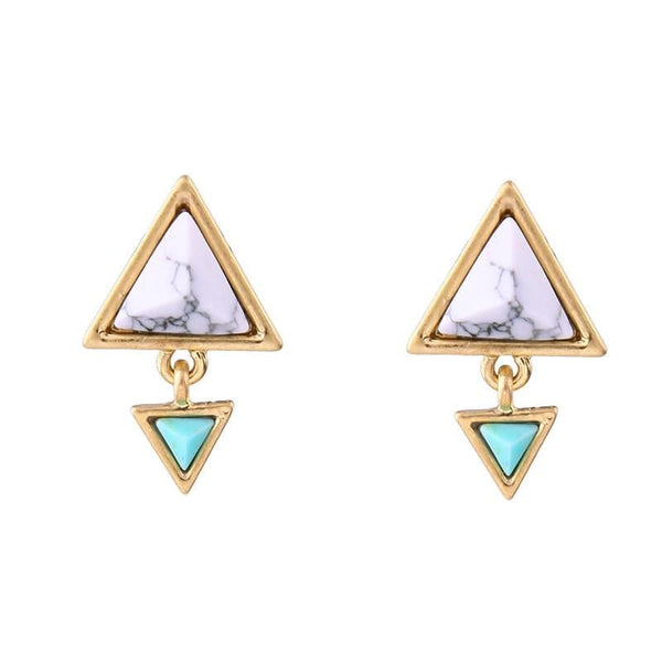 Lizzie Triangle Drop Earrings, Earrings - Kevia Style, LLC
