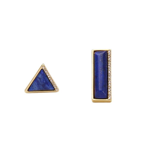 Lizzie Mismatched Lapis Earrings