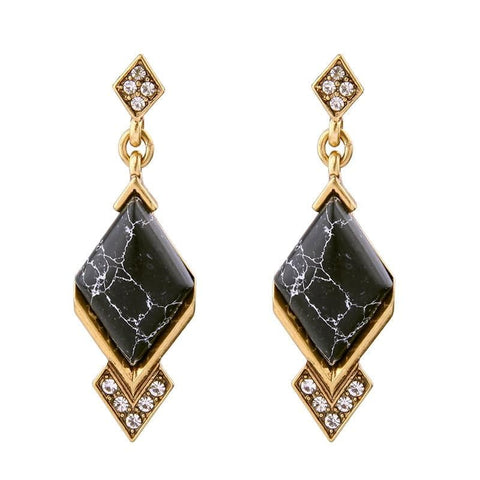 Lizzie Black Onyx Statement Earrings