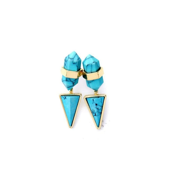 Lizzie Turquoise Jacket Earrings