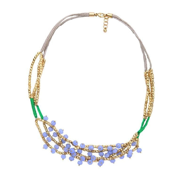 Lizzie Beaded Necklace, Necklaces - Kevia Style, LLC