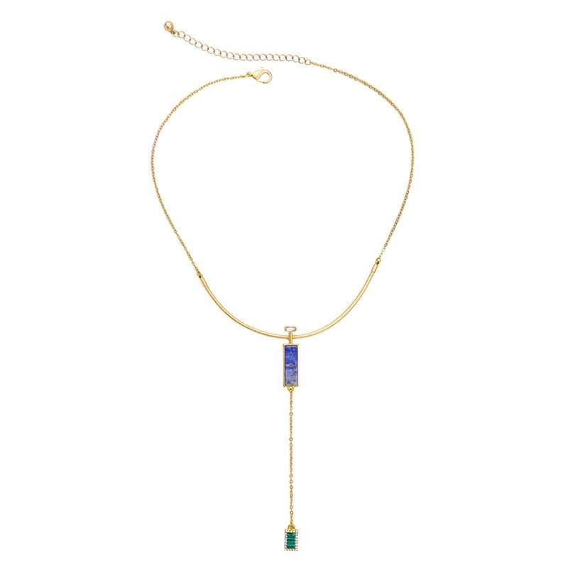 Lizzie Stone Y Necklace, Necklaces - Kevia Style, LLC