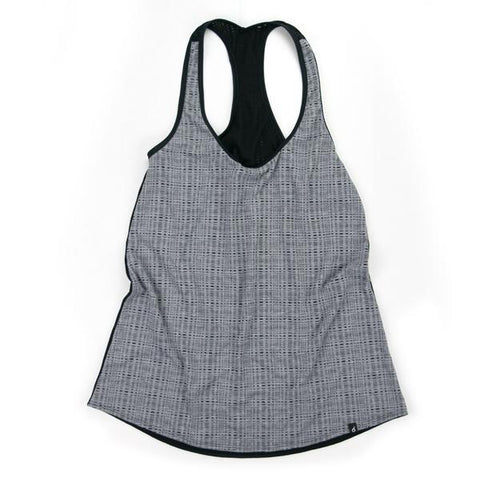 Grey Check Razor Run XSmall Top