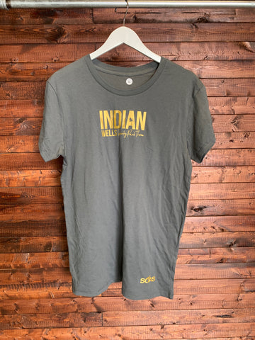 Indian Wells T Shirt Gold Large Top