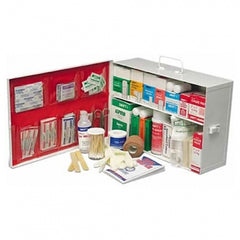 Two-Shelf Metal First Aid Cabinet