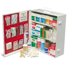 25-Person Three-Shelf Metal First Aid Cabinet