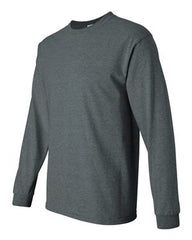 Gildan Ultra Cotton L/S T-Shirt-Dark Heather