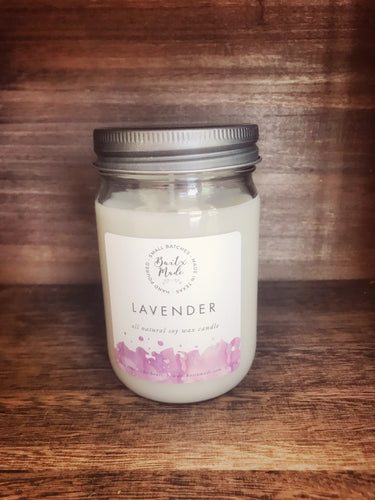 Lavender All Natural Soy Wax Candle 12oz