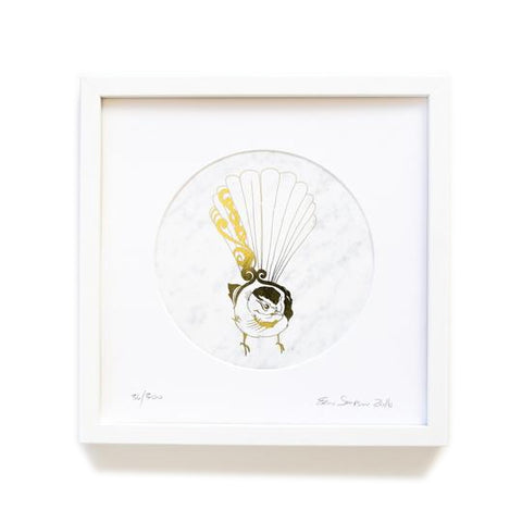 Fantail Limited Edition Metallic Print