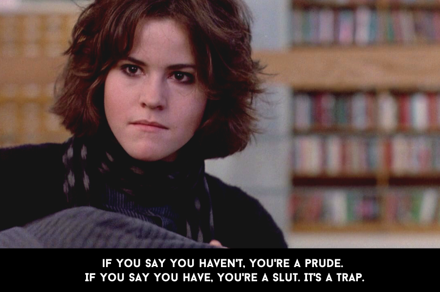 Ally Sheedy Breakfast Club Slut Shaming