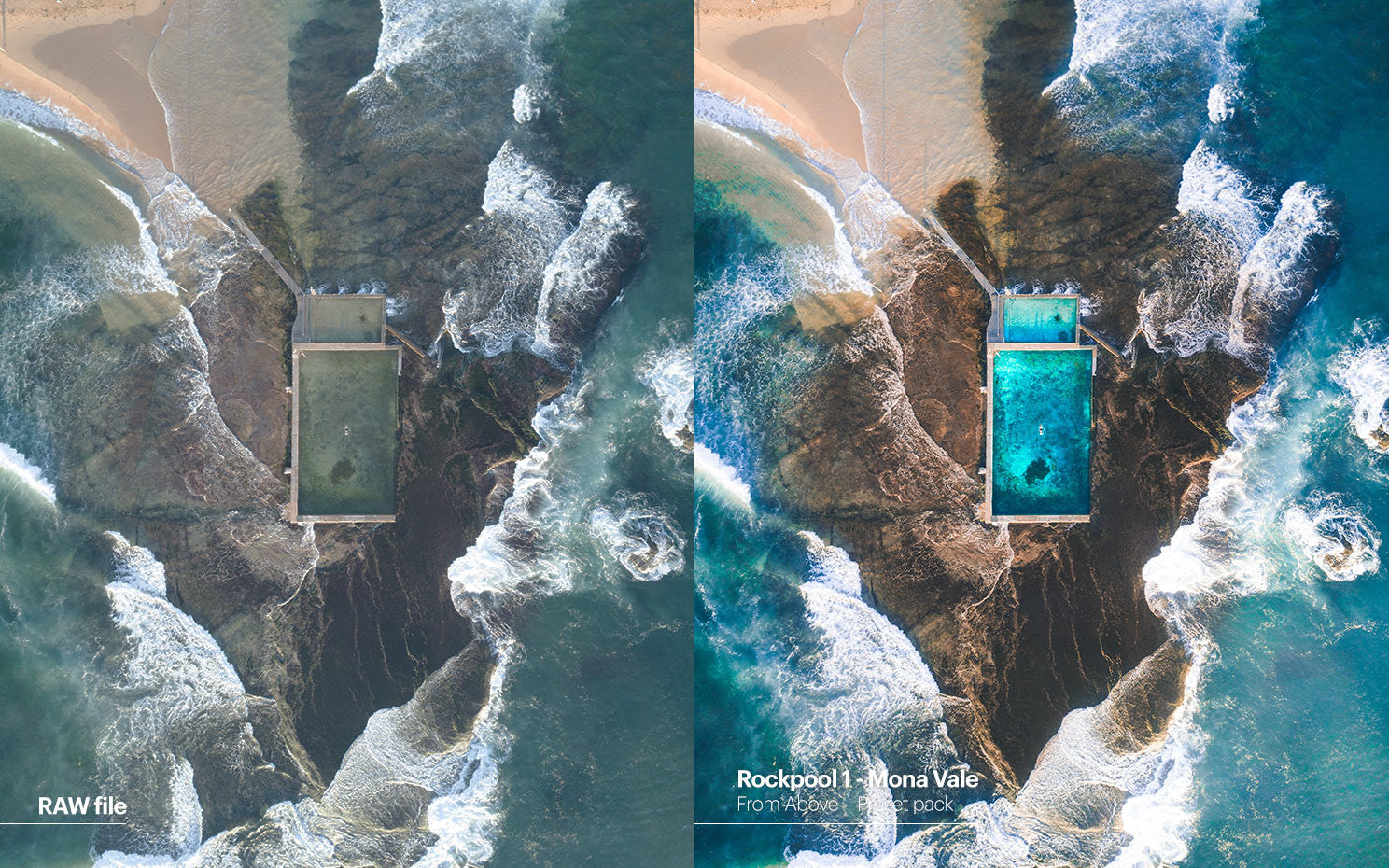 Pat Kay presets - From Above - Rockpool 1 - Mona vale