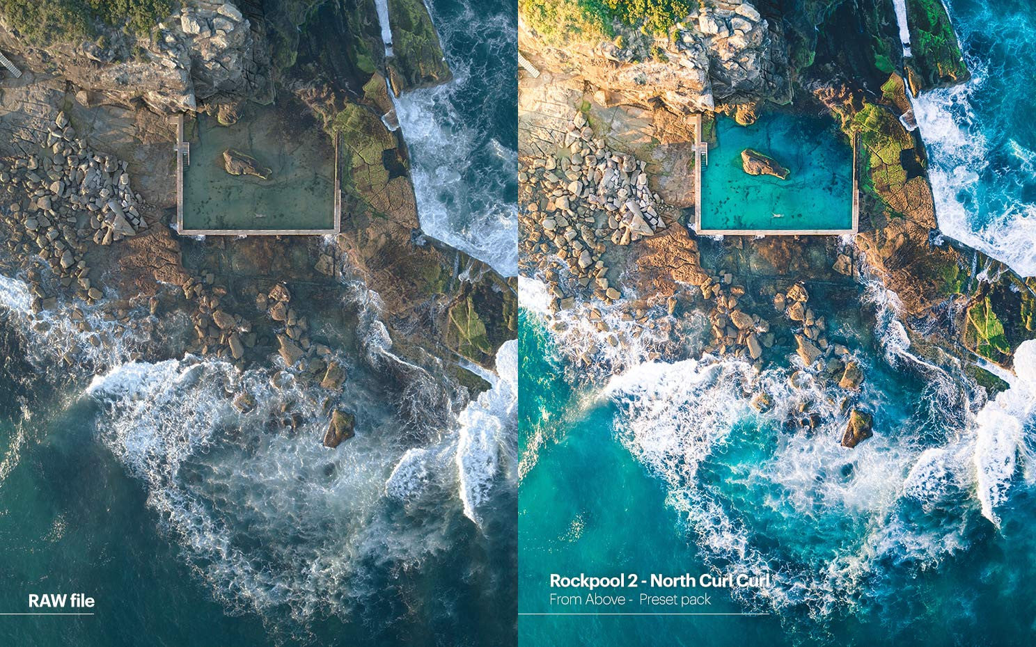 Pat Kay presets - From Above - Rockpool 2 - North Curl Curl