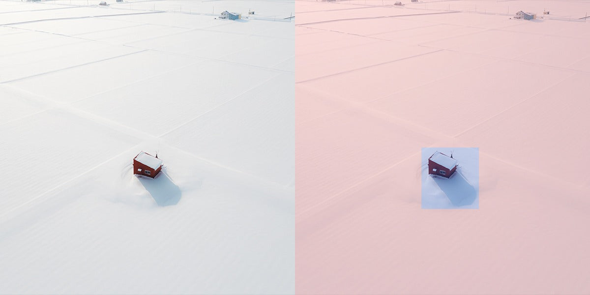Positive and negative space in photography can suggest vastness