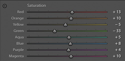 The Saturation HSL Slider in Adobe Lightroom - Pat Kay Blog