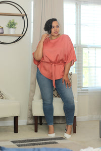 Coral Luxe Blouse